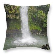 Taveuni, Tavoro Waterfall Throw Pillow