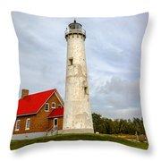 Tawas Point Lighthouse - Lower Peninsula, Mi Throw Pillow