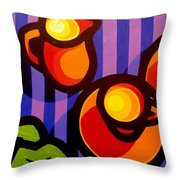 Tea And Apples Throw Pillow