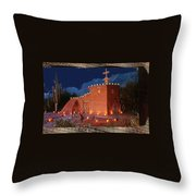 Ted Degrazia's Little Gallery Mission In The Sun Tucson Petley Postcard C.1968-2013 Throw Pillow