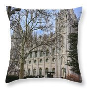 Temple View Throw Pillow