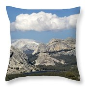 Tenaya Lake From Olmstead Point Throw Pillow