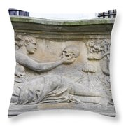 Tenement Houses Gdansk Throw Pillow