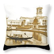 Tennessee Centennial Exposition, Auditorium Building, Lake And G Throw Pillow