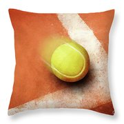 Tennis Point Throw Pillow