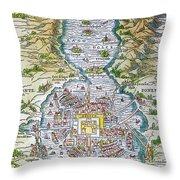 Tenochtitlan (mexico City) Throw Pillow
