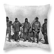 Terra Nova Expedition Throw Pillow