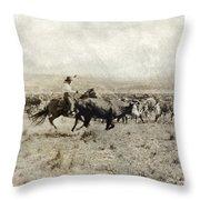 Texas: Cowboy, C1908 Throw Pillow