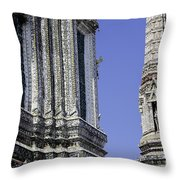 Thailand Temple Architecture Throw Pillow