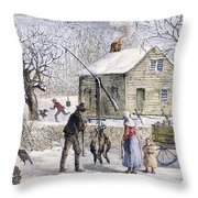 Thanksgiving, 1882 Throw Pillow