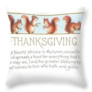 Thanksgiving Card Throw Pillow