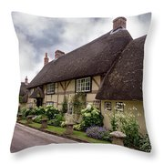 Thatched Cottages Of Hampshire 20 Throw Pillow