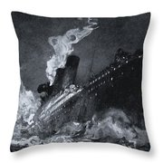 The 46,328 Tons Rms Titanic Of The Throw Pillow