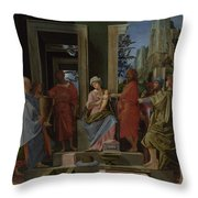 The Adoration Of The Kings Throw Pillow