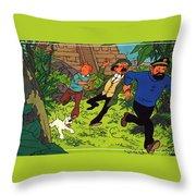 The Adventures Of Tintin Throw Pillow