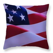 The American Flag Throw Pillow