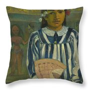 The Ancestors Of Tehamana Throw Pillow