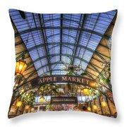 The Apple Market Covent Garden London Throw Pillow