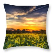 The April Farm Throw Pillow