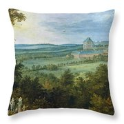 The Archdukes Hunting Throw Pillow