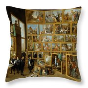 The Art Collection Of Archduke Leopold Wilhelm In Brussels Throw Pillow