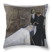 The Artist Attending The Mourning Of A Young Girl Throw Pillow