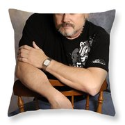 The Artist Throw Pillow by Clayton Bruster