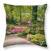 The Azalea Path Throw Pillow