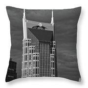 The Batman Building - Nashville Throw Pillow