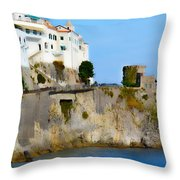 The Beach At Amalfi Throw Pillow