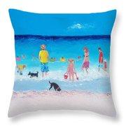 The Beach Parade Throw Pillow