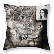 The Beast Of Babylon Throw Pillow