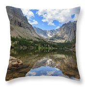The Beautiful The Louch Lake With Reflection And Clear Water Throw Pillow