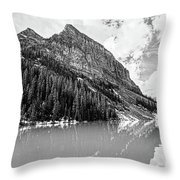 The Beauty Of Lake Louise Bw Throw Pillow