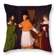 The Betrothal Of Raphael And The Niece Of Cardinal Bibbiena Throw Pillow