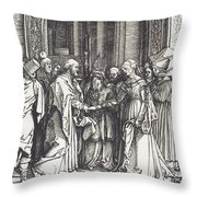 The Betrothal Of The Virgin Throw Pillow
