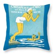 The Big Splash Throw Pillow