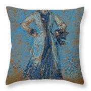 The Blue Girl Throw Pillow