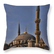 The Blue Mosque In Istanbul Turkey Throw Pillow by David Smith