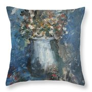 The Blue Vase Throw Pillow