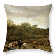 The Bowling Game Throw Pillow
