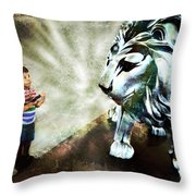 The Boy And The Lion 3 Throw Pillow