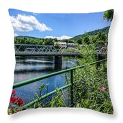 The Bridges At Shelbourne Falls Throw Pillow