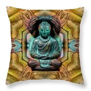 The  Buddhas Of Ayahrtyan  Throw Pillow