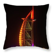 The Burj Al Arab Throw Pillow
