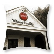 The Burnside General Store Throw Pillow