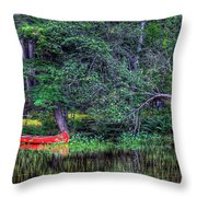 The Canoe Throw Pillow