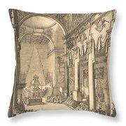 The Catafalque Of The Emperor Mathias Throw Pillow