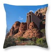 The Chapel Of The Holy Cross Throw Pillow
