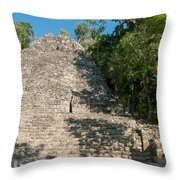 The Church At Grupo Coba At The Coba Ruins  Throw Pillow